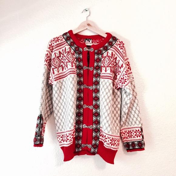 Vintage Dale of Norway Red Cardigan Sweater 44 L. M 59504e2aea3f3666d105f30e 9641e78f8