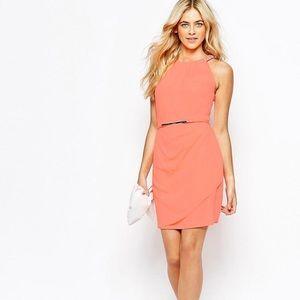 Oasis Dresses & Skirts - oasis Embellished trimmed dress-coral/ UK 8/ US 2