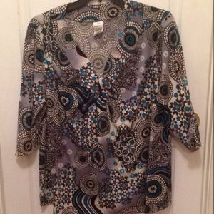 Just My Size Tops - Just My Size Geometric Blouse,Size 3X