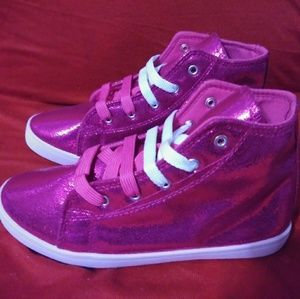 """Other - """"NEW""""Girl Lace up satin Pink Bootie Sneakers"""