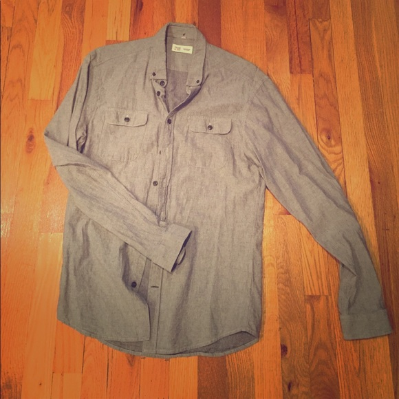 60 off frank oak other grey button down by frank and for Frank and oak shirt