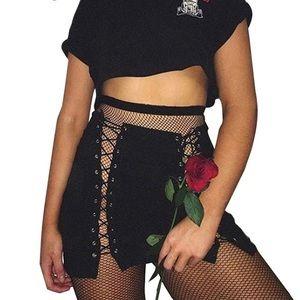 Dresses & Skirts - lace up black skirt
