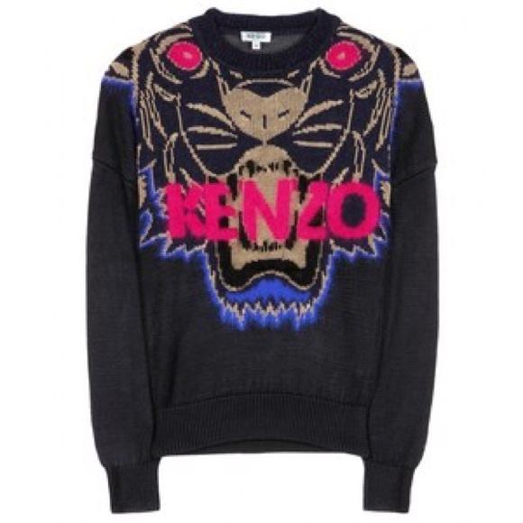 a7975205e Kenzo Sweaters | Tiger Intarsia Fine Knit Pullover | Poshmark