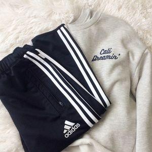 ADIDAS black+white striped climacool pants