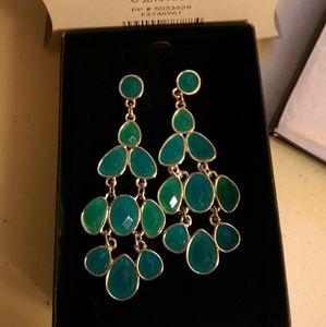 Avon Bold Faceted Chandelier Earrings