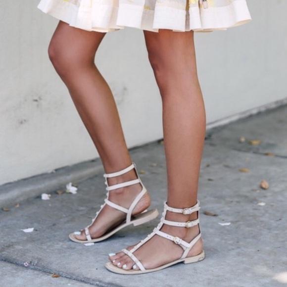 Rebecca Minkoff Studded Nude Sandals