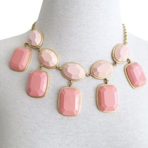 j crew • karma 2-tone pink bauble tiered necklace