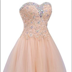 Jaeden Dresses & Skirts - Strapless Homecoming Tulle Short Cocktail, Nude