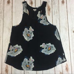 Tavik Tops - Tavik Floral Black Flowy Blouse / Tank Top