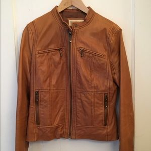 Buttery leather Michael Kors jacket