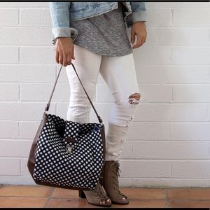 All For Color Handbags - Gingham tote, NWT SO CUTE!