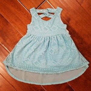Youngland Other - Youngland Baby Blue Hi-Lo Eyelet Dress