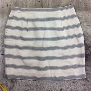 J Crew stripped skirt