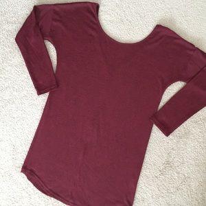 SheIn Dresses & Skirts - SheIn V-Back Dress Burgundy Heather Size Medium