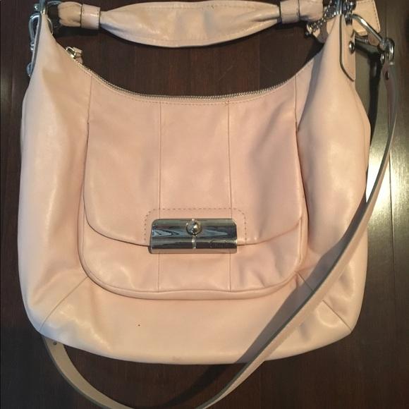df0251feb buy coach kristin leather hobo pale pink handbag ae182 46213