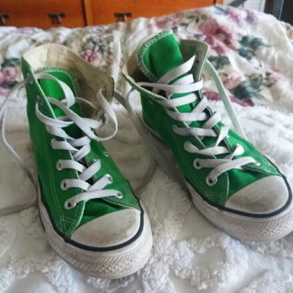 0d2762bd627c Converse Shoes - Converse All Star bold green Chuck Taylor hi-tops