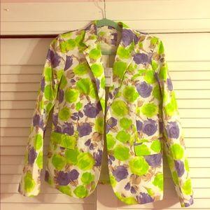 J Crew floral blazer size 6