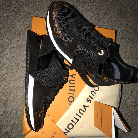 d22463196ea18 Louis Vuitton Shoes | Run Away Black Womens Sneakers | Poshmark