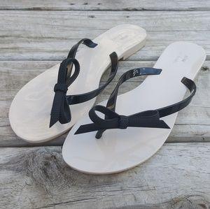 Melissa Shoes - Melissa + Jason Wu Nude Black Harmonic Bow Sandal