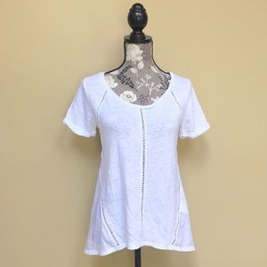 Banana Republic Linen Eyelet Top
