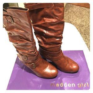 Madden Girl Wide Calf Womens Boots Size