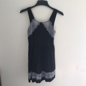 Size 0 Free People dark purple black lace dress