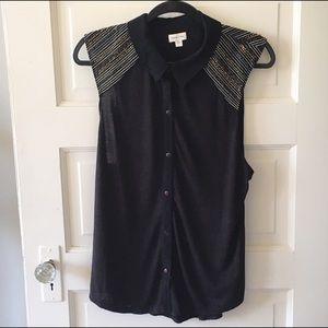 silence + noise Tops - Silence + Noise black button down shirt