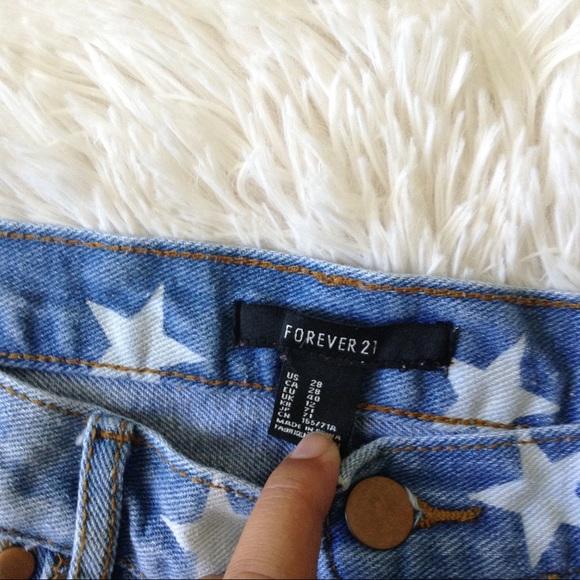 Forever 21 Shorts - FOREVER21 light blue distressed star wash shorts