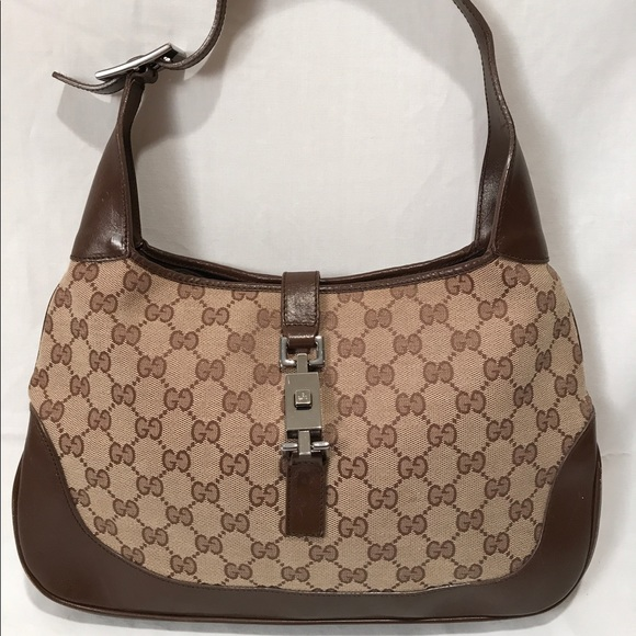 Gucci Handbags - Vintage Gucci Monogram Jackie O Purse Handbag abda7be93690d