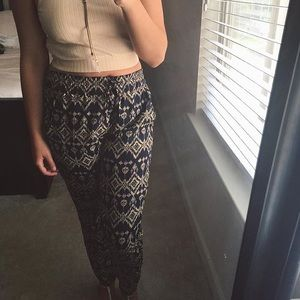 Aztec patterned pants AND crop top
