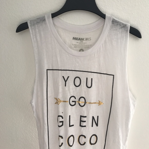 Tops - Large You Go Glen Coco white muscle tank top