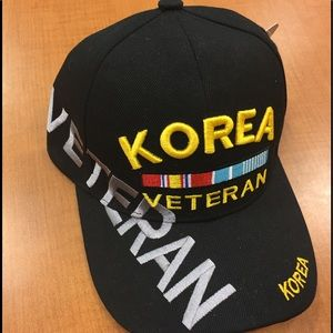 Other - Korea Veteran Black Military Baseball Cap