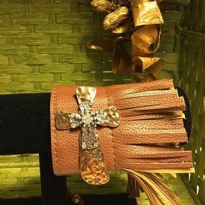 Jewelry - Cross Fringed Bracelet
