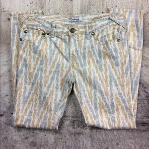 Free people printed skinny jeans
