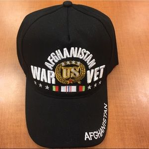 Other - Afghanistan veterans military baseball cap black