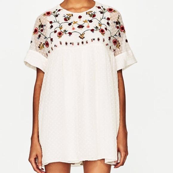 1af497de517a Zara Embroidered Jumpsuit Dress. M 5950722a4127d012da0692a2