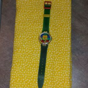 Swatch Accessories - Coca Cola 237 SMH Swatch Watch - tropical sunset!