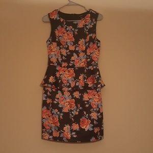 Floral Peplum Dress Forever 21