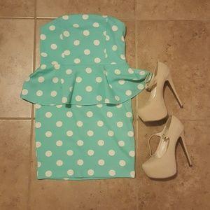 Strapless Polka dot Dress Forever 21