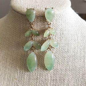 Jade Drop Petal Earrings