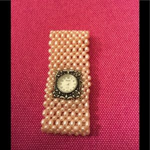 Accessories - NWOT Watch with Faux Pink Pearls
