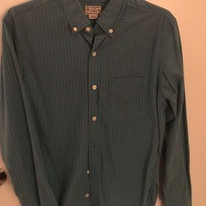 J. Crew Other - J crew button down teal and brown