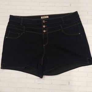 BLUE SPICE Pants - Blue Spruce - Stretch Jean Shorts