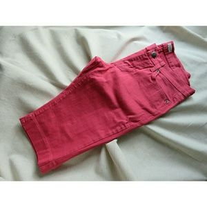 Boutique Pants - NWT Denim Bermuda Shorts Coral Salmon Pink 4