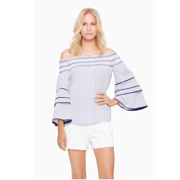 a17a446feff Parker Largo Striped Cotton Off-Shoulder Blouse NWT