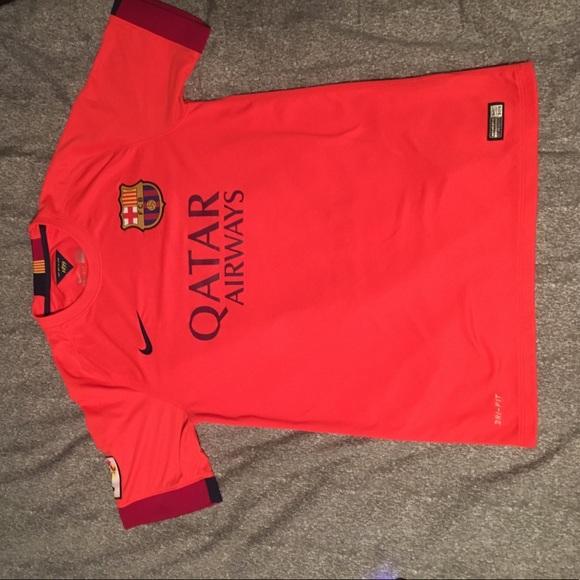 Nike Other Nike Fc Barcelona Away 415 Neon Orange Drifit Poshmark