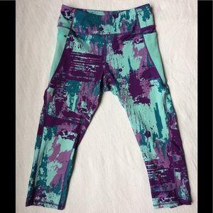 Kyodan Pants - Kyodan Slimming Capri, Paint Splatter Pattern
