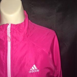 Adidas Pink Women's Windbreaker Size Medium