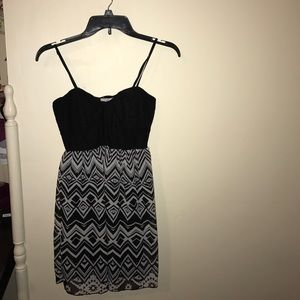 Black and white designed dress