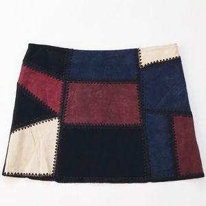 Zara color block skirt